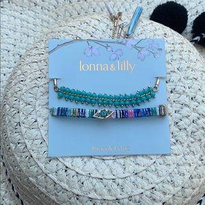 💋lonna & lilly Gold-Tone 2 Slider Bracelets
